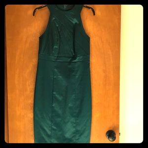 The Limited green satin dress